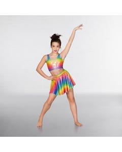 1st Position Circular Skirt  Rainbow Foil