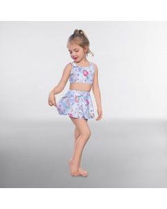 1st Position Mermaid Print Circular Skirt
