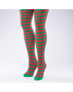 Red & Green Stripe Tight - Adult One Size