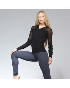 Ballet Rosa Midori Bamboo Zipper Hoodie