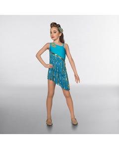 1st Position Prestige Two Tone Sequin Fringe Glitz Dress