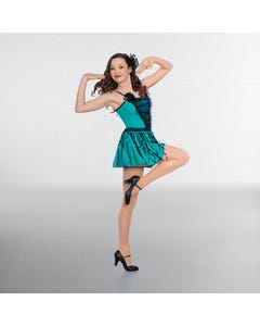 1st Position Sequin Panelled Bodice with Sequin Fringe Skirt