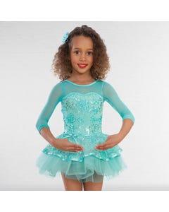 1st Position Floral Lace Short Ballet Dress
