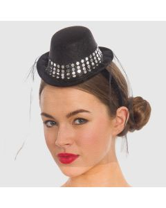 Mini Bowler Hat with Net
