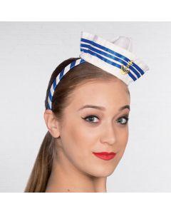 Headband Hat Mini Sailor with Stripes