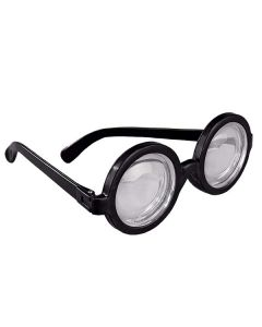 Black Round Glasses- magic lenses give double vision effect