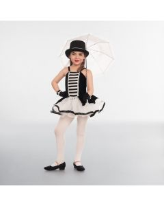 1st Position Black and White Striped Panel Tutu