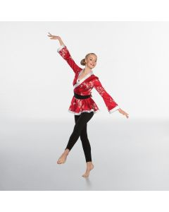 Red Kimono with Waist Sash