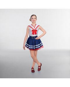 1st Position Sailor Skirt with Button Decoration