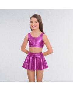 1st Position Metallic Circular Skirt Magenta