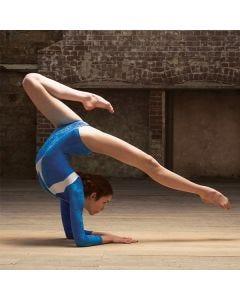 Intermezzo Long sleeved Velour Gymnastic Leotard