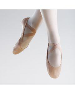 So Danca SuperPro Leather Split Sole Ballet Shoe with Stretch Insert