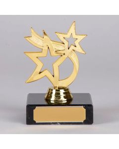 Gold Two Star Small Trophy