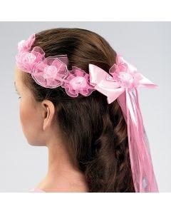 Pearl Rosette Headband Pink