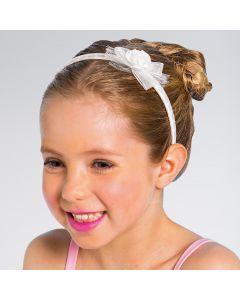 Small White Rose Bow Aliceband Child Size