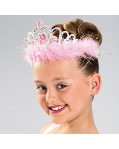 Silver/pink Heart Crown Tiara