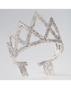 Silver Diamond Crown Tiara