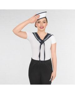 Sailor Girl Collar and Hat Set