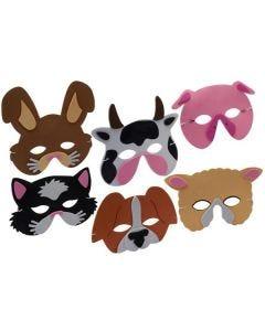Farmyard Animal Foam Masks Pack 24