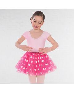 Fuchsia Net Polka Dot Tutu Skirt