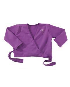 Junior Ballet Purple Wrapover Cardigan