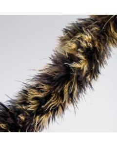 Brown/Black Animal Marabou Trim (2 Metre)