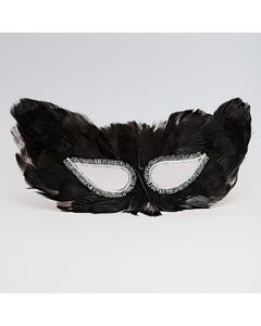 Simple Feather Eye Mask Black