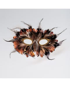 Feather Mask (Brown)
