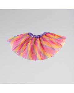 Triple Layered Tutu Skirt Pastel Rainbow Child One Size