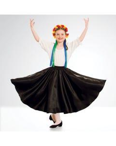 Black Satin Skirt - Child One Size